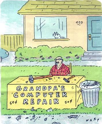 Grandpa's Computer Repair... #seniorhumor | Laughter: The ...