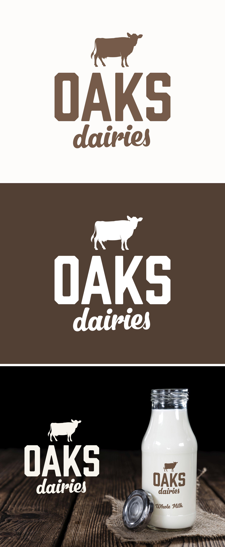 Oaks Dairies Logo Design Branding Product Mock Up Www Themark Co Nz Branding Logo Nasa Design