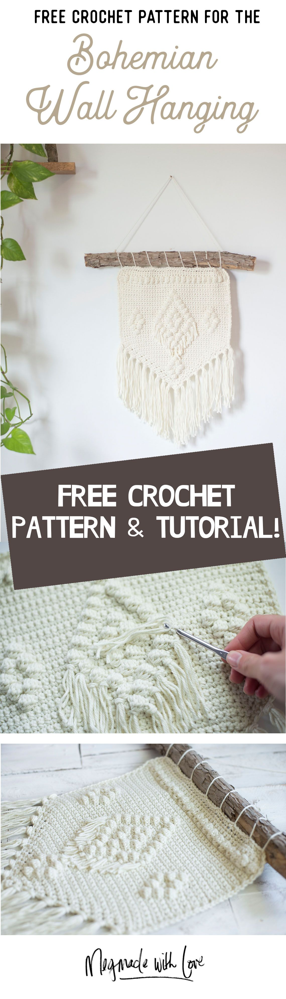 Free Crochet Pattern - The Bohemian Wall Hanging | Pinterest | Tapices