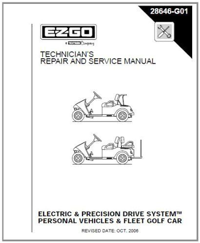 E Z Go 28646g01 2001 2009 Repair Manual For Electric Pds Txt Fleet Freedom Shuttle 2 2 Golf Cars Personal Vehicles Golf Cart Repair Golf Car Golf Cart Parts