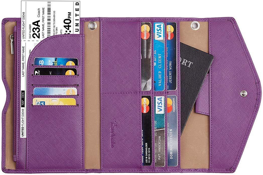 Travelambo Rfid Blocking Passport Holder Wallet /& Travel Wallet Envelope Various Colors