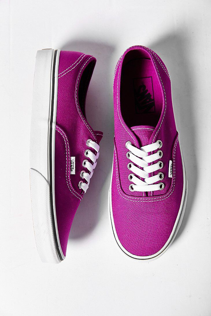 635a980b374 Plum Purple + True White Authentic Canvas Sneaker - Vans in size 8 ...