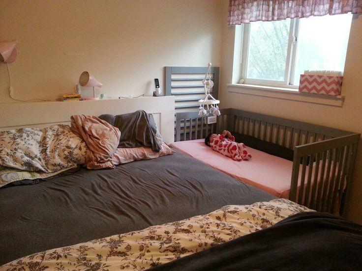Sidecar Crib Makes Night Nursing So Much Easier Master Bedroom Nursery Baby Bedroom Baby Bed
