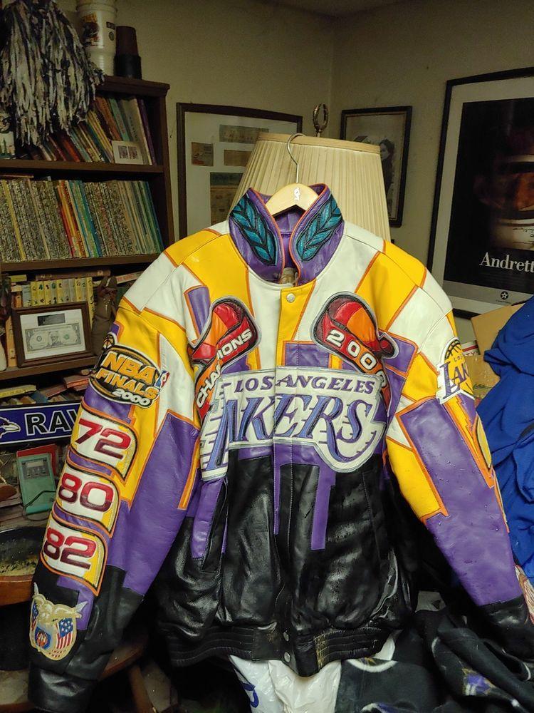 Los Angeles Lakers 2000 Jeff Hamilton Lamb Skin Leather Championship Jacket