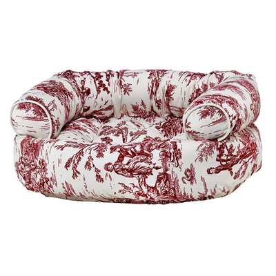 Relax in style with the Raspberry Toile Luxury Double