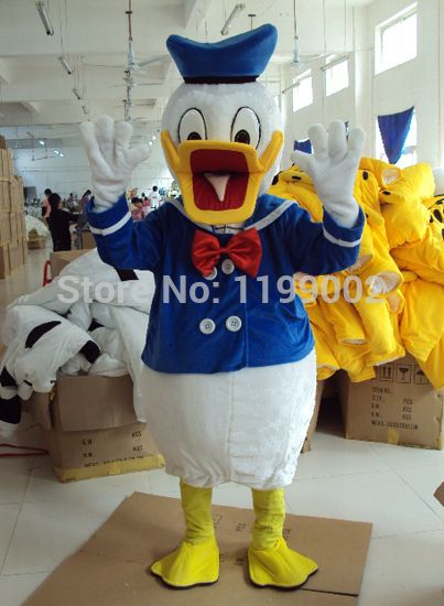 【Hot Sale】Donald And Daisy Duck Mascot Costume Adult Size Halloween Dress Gift