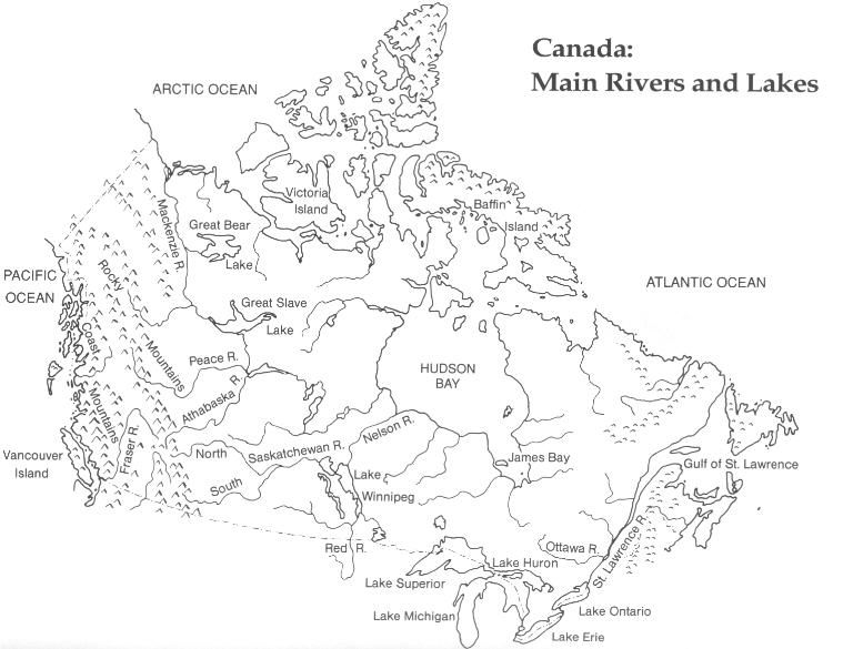 Map Of Canada Unmarked.Top 10 Punto Medio Noticias Canada S Physical Regions Map Blank