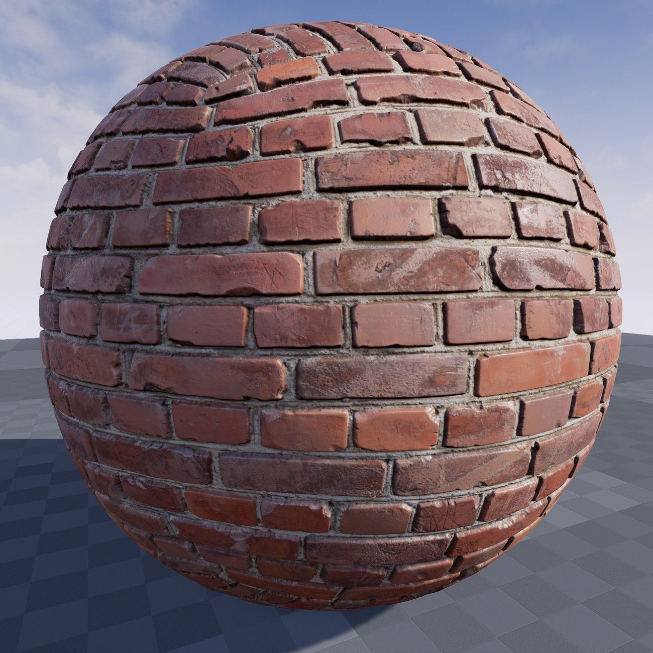 Texture of brick wall in Unreal Engine 4.9, Crazy Textures on ArtStation at https://www.artstation.com/artwork/lzVbG