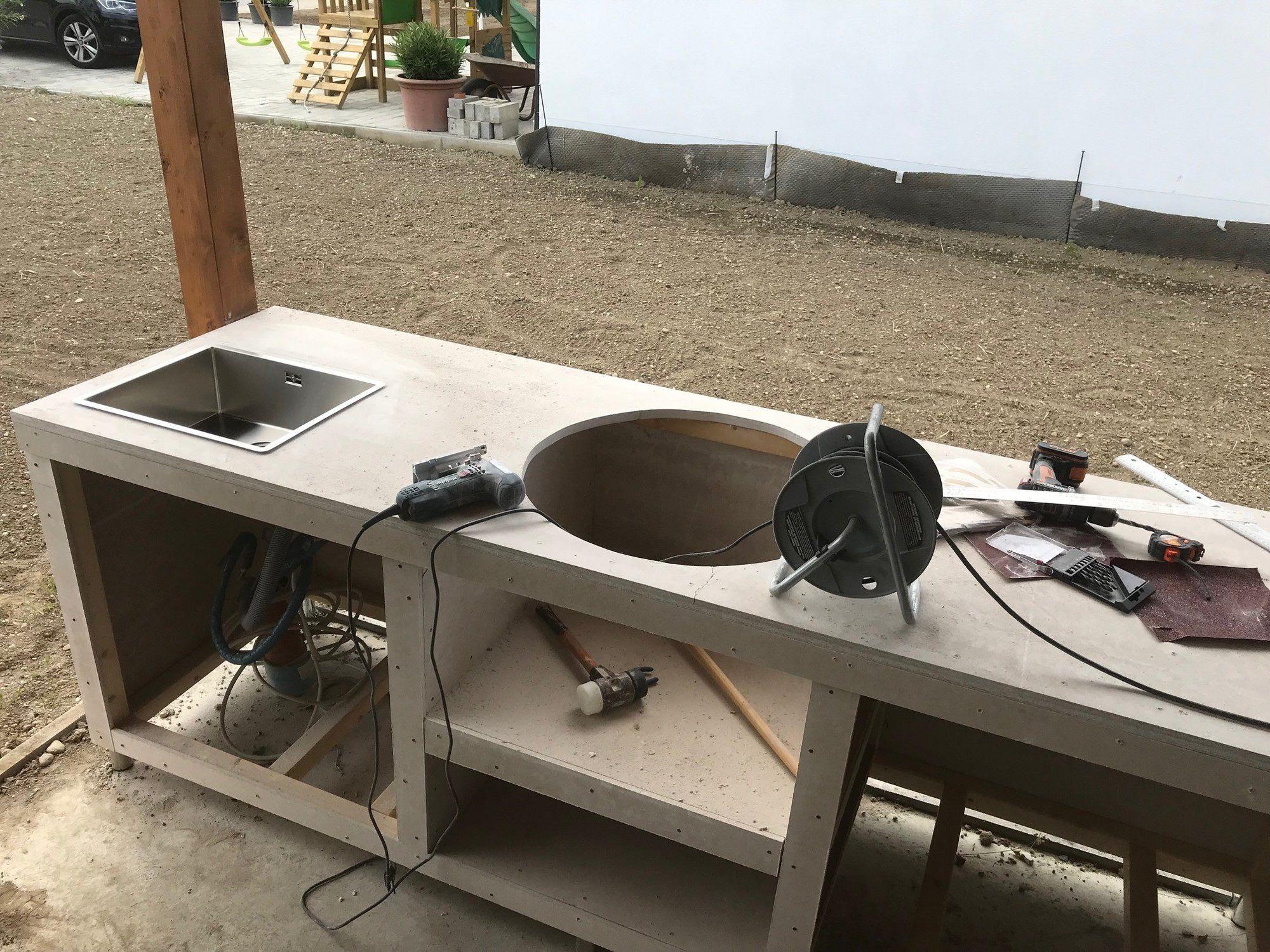 Meine Aussenkuche In Holzstanderbauweise Grillforum Und Bbq Www Grillsportverein De Outdoor Grill Kuche Outdoor Kuche Selber Bauen Kuche Selber Bauen