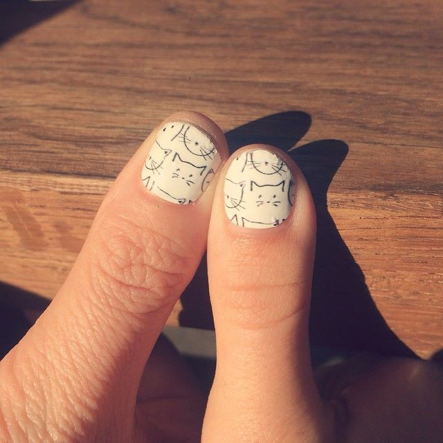 meow! Make Me Nails founders Lauren Jones and I twinning in our cat ...