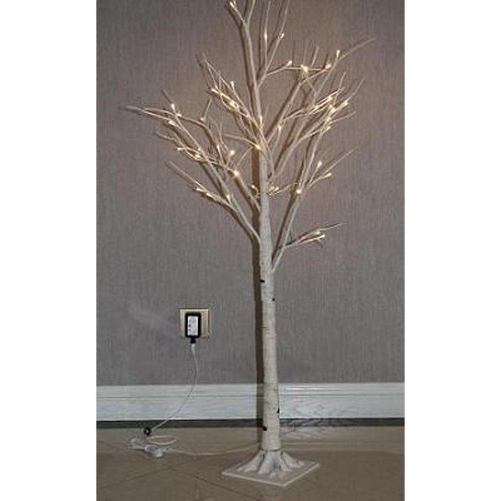 Outdoor Lightingdesign Ideas: Hi-Line Gift Ltd Birch Tree On Metal Base 48 LED
