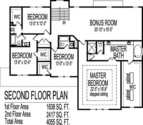 Country Farmhouse House Plans 4 Bedroom 4 Bath 4000 SF Two Story ...