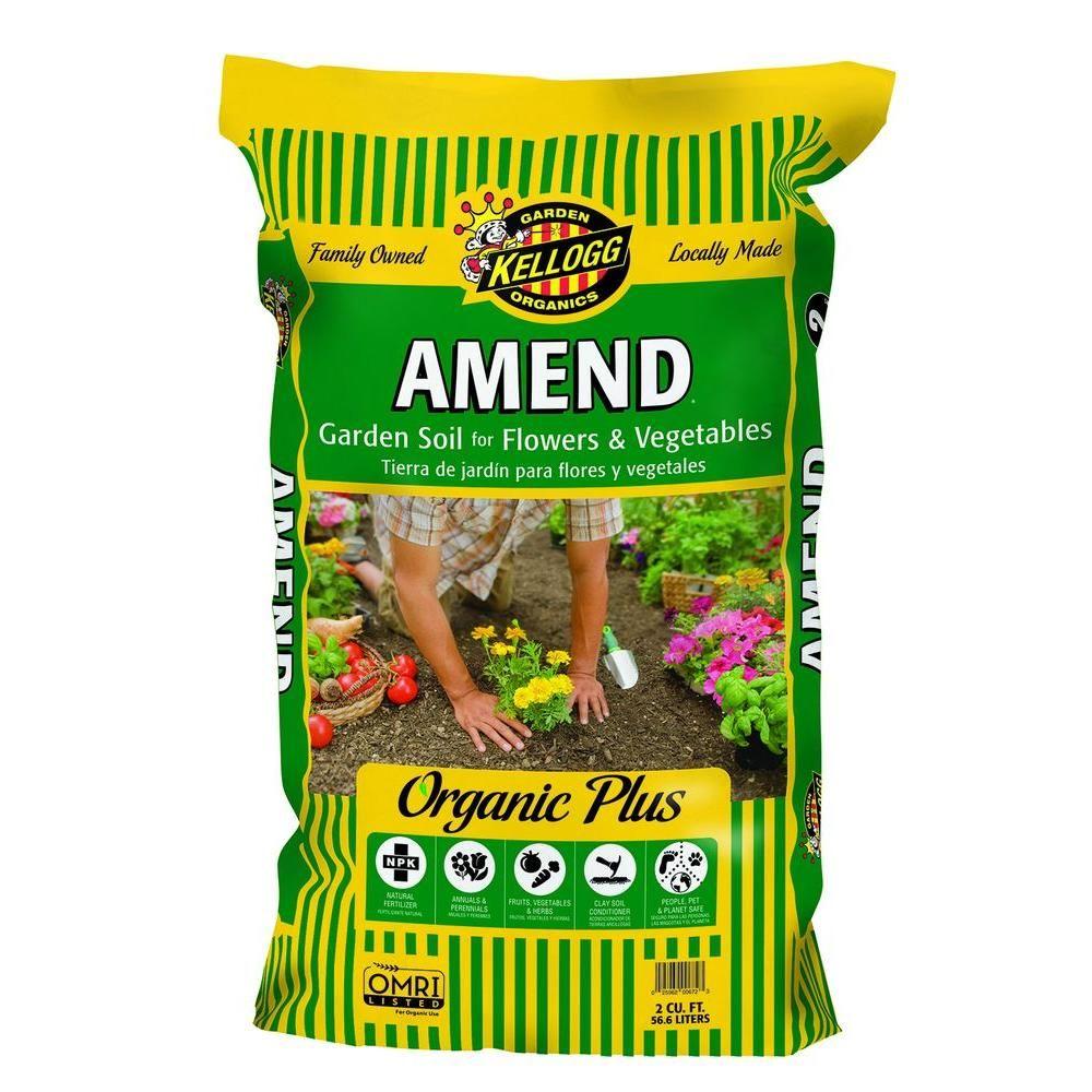Kellogg Garden Organics 2 Cu Ft Amend Garden Soil For Flowers
