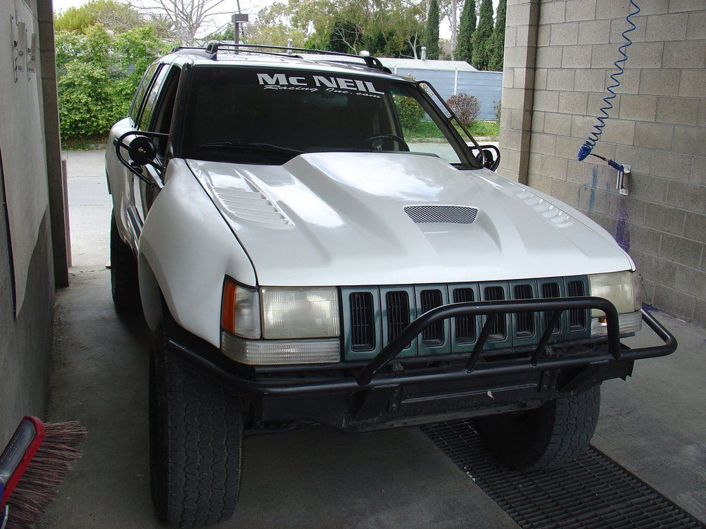 93 98 Jeep Grand Cherokee Zj Off Road Fiberglass Hood Jeep