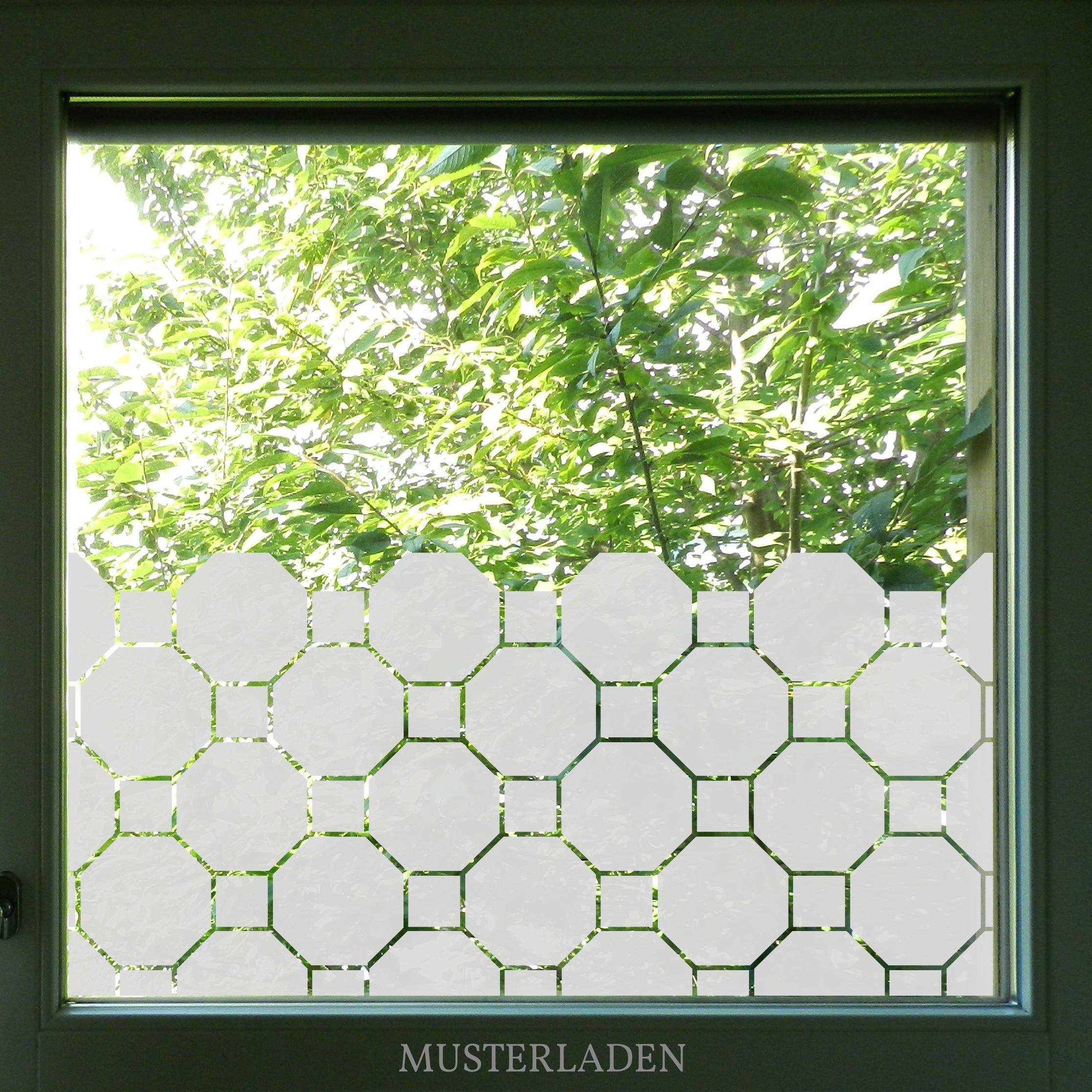 Fensterfolie Achteck Blickschutz Badezimmer Sichtschutz Folie