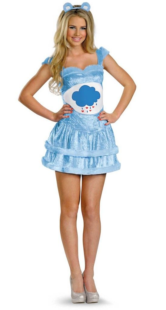 Care Bears Sassy Grumpy Bear Adult Costume Halloween Ideas - princess halloween costume ideas