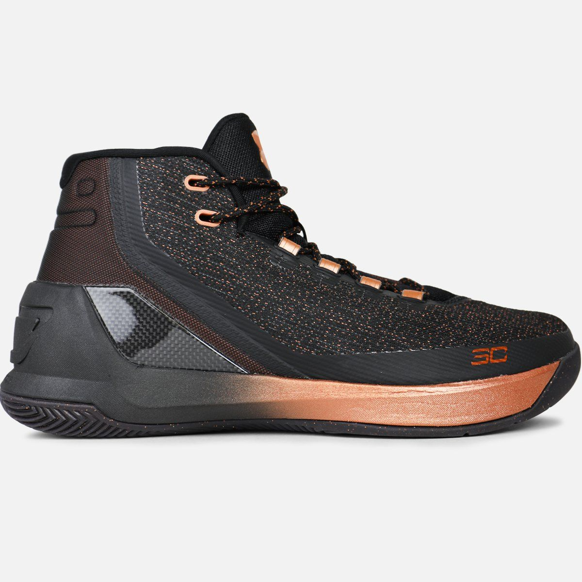 big sale f5bd9 5e232 The shoes are dressed in a black based upper with copper detailing all  throughout- Under Armour branding comes in copper on the outside of the  tongue.