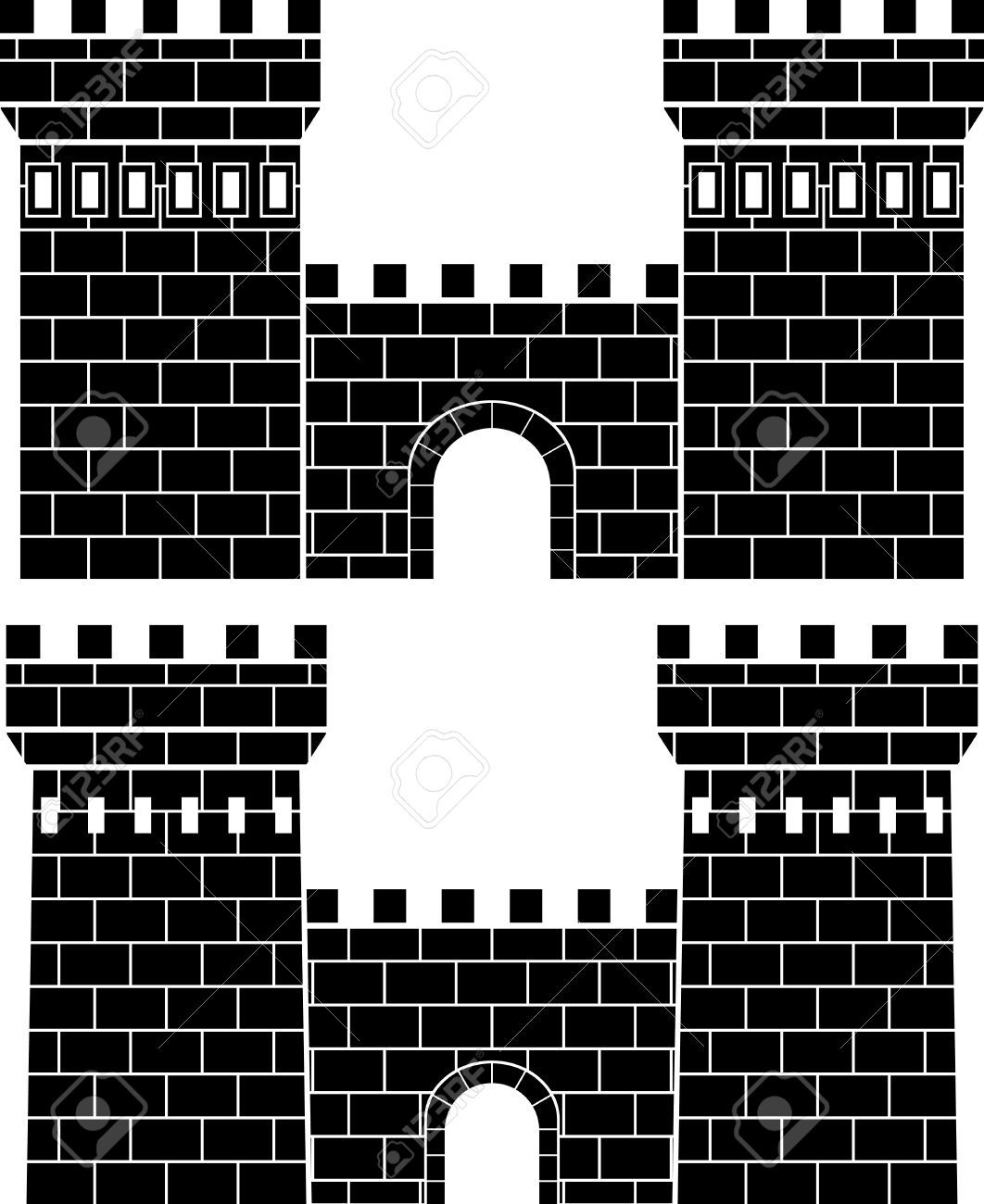 8976606 two gates stencil stock vector castle medieval towerg 8976606 two gates stencil stock vector castle medieval amipublicfo Gallery