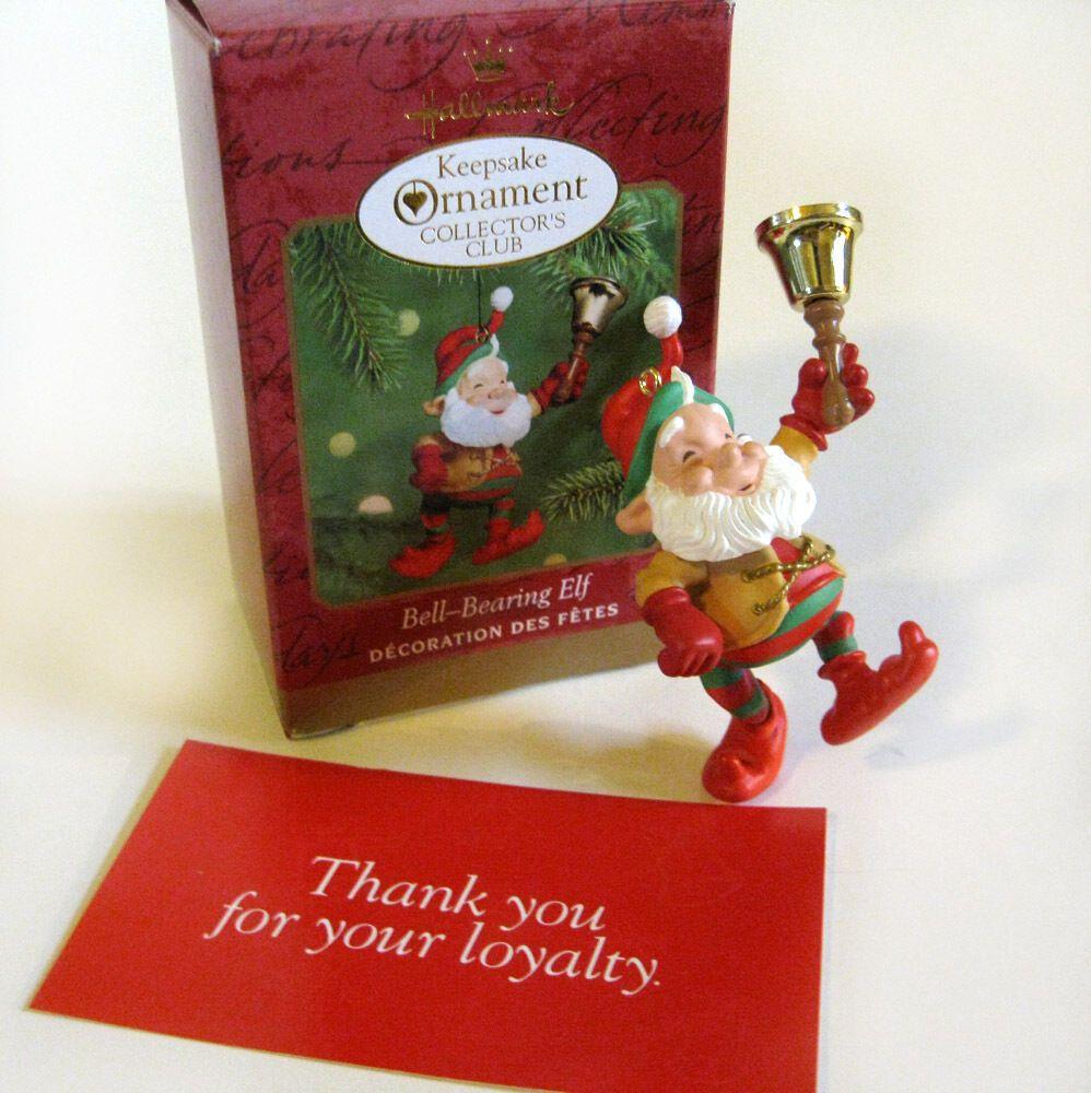 Bell Bearing Elf Collectors CLUB Members Hallmark Keepsake ...
