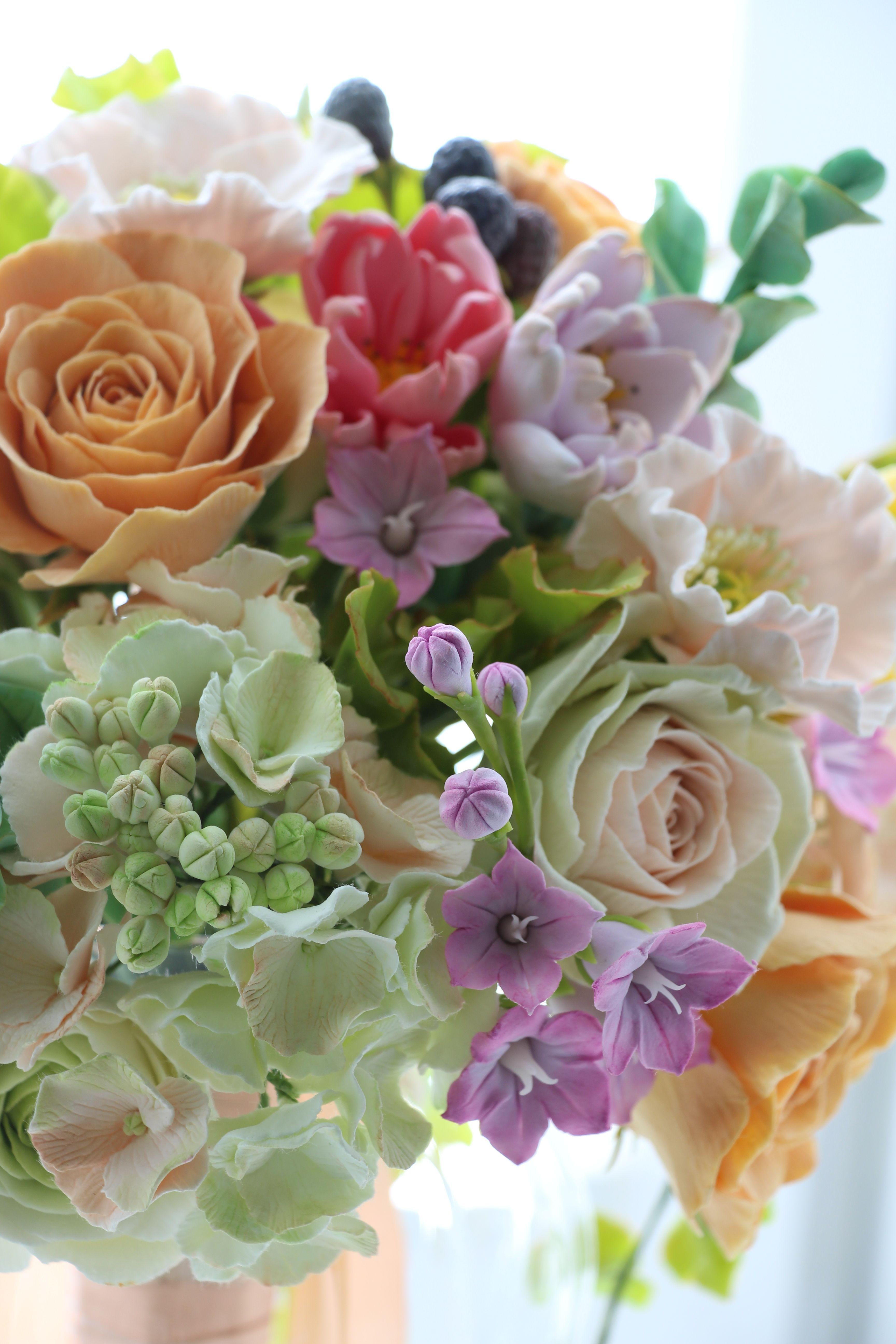 Картинки цветы из полимерной глины