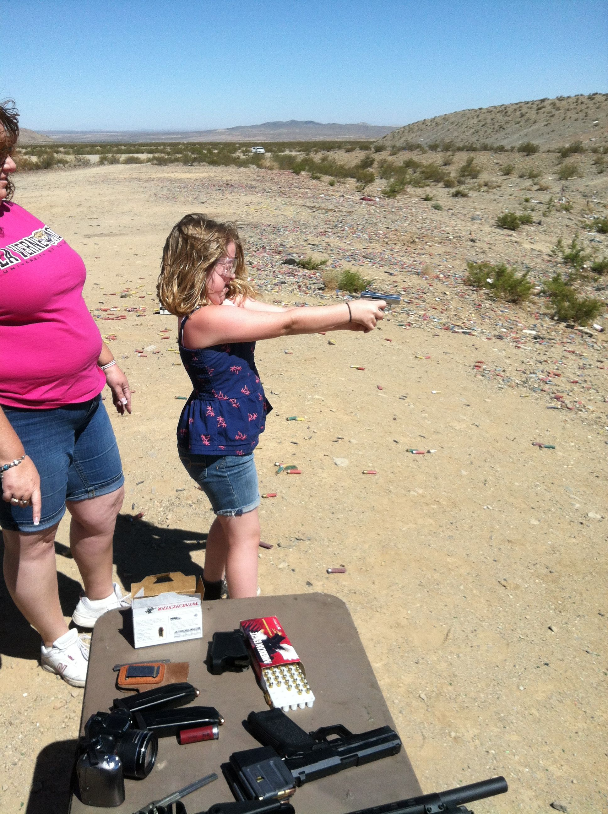 At hodge road, Barstow calif. my little reagan shooting 25