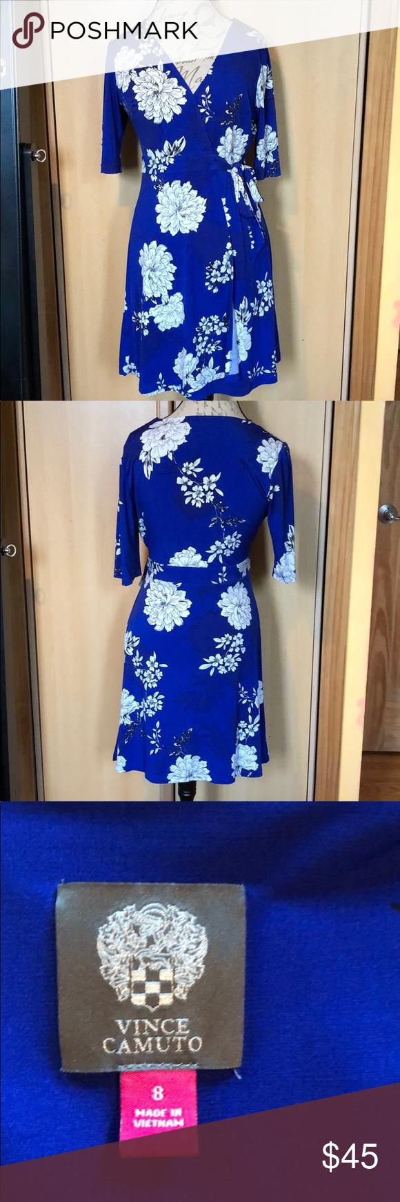 Vince Camuto Blue Floral Dress Size 8 Floral Blue Dress Floral Dress Colorful Dresses [ 1740 x 580 Pixel ]