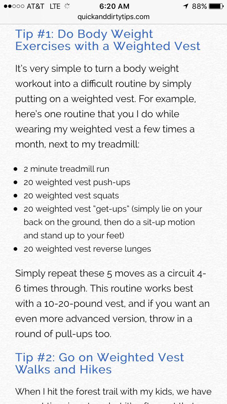 Weight vest workout wtfmenmensfasionideas