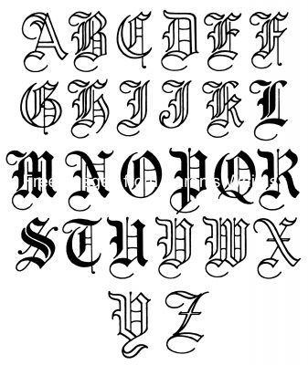 Old English Lettering 10