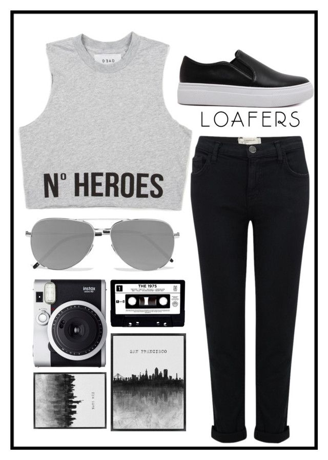 """""""Where to next"""" by xheartit101 on Polyvore featuring Current/Elliott, WithChic, Yves Saint Laurent, Fuji, Grandin Road and loafers"""