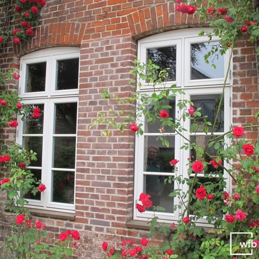 Das Dänische Fenster mit Stichbogen wurde hier mithilfe