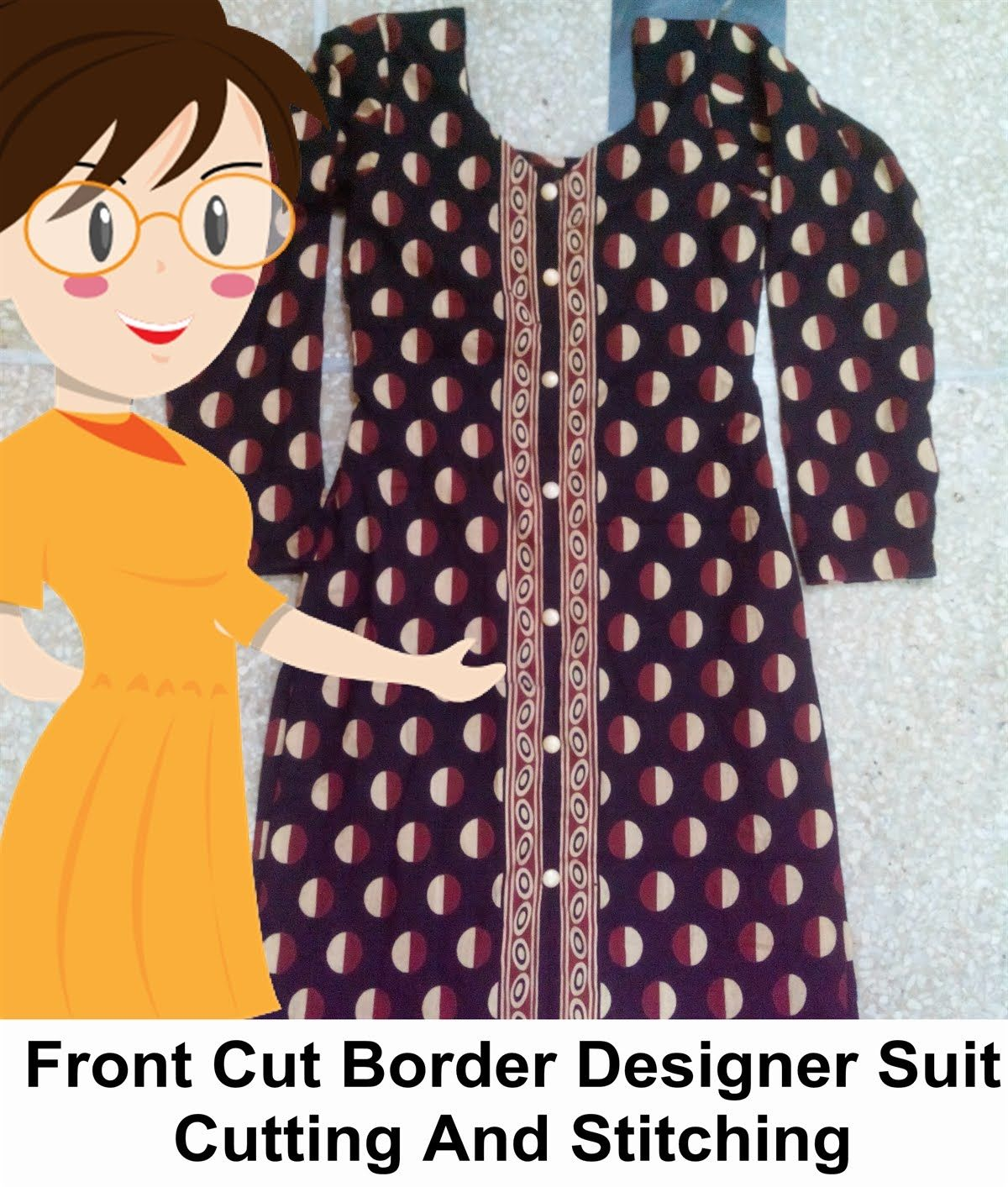 10d57f8caac Front Cut Border Designer Suit Cutting   Stitching - Tailoring With Usha -  YouTube
