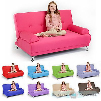 Childrens Cotton Twill Clic Clac Sofa Bed With Armrests Futon Sofabed Kids Guest From Only 159 97 Item Description Childrens Cli Kids Couch Kids Sofa Sofa Bed