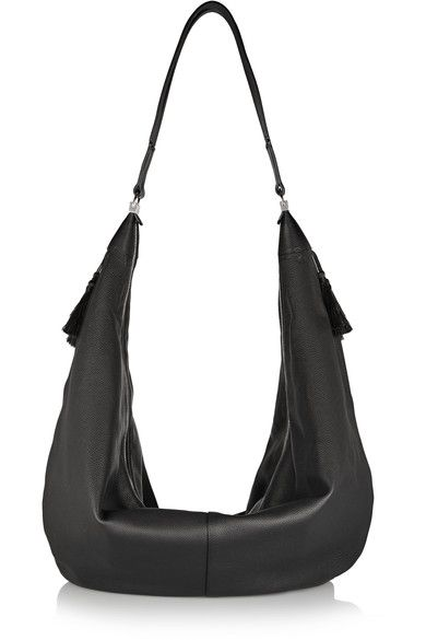 The Sling Leather Shoulder Bag - Black The Row gbfYMFU