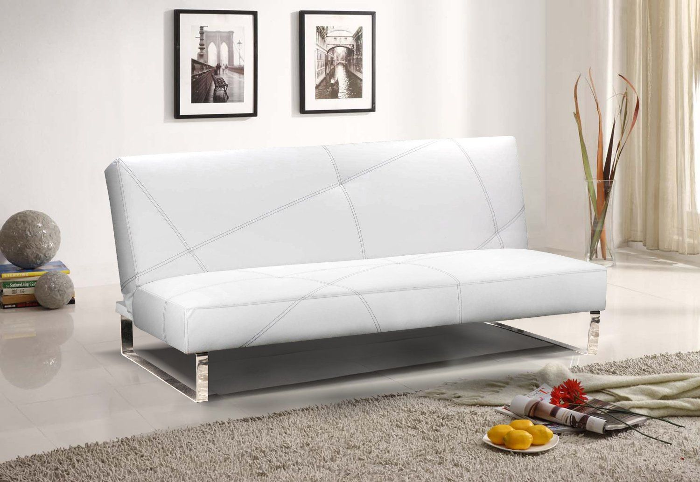 Amazon.com - Futon Sofa Bed Convertible - Modern Design - Chrome ...