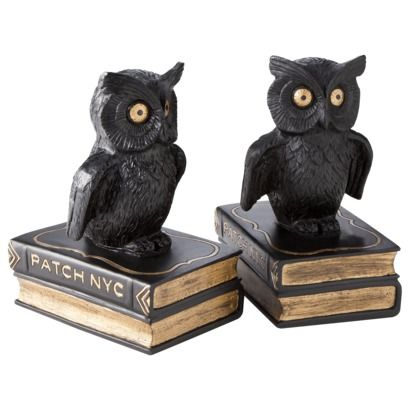 Patch Owl Bookends