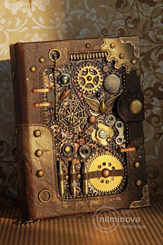 Steampunk journal for him Men notebook A6