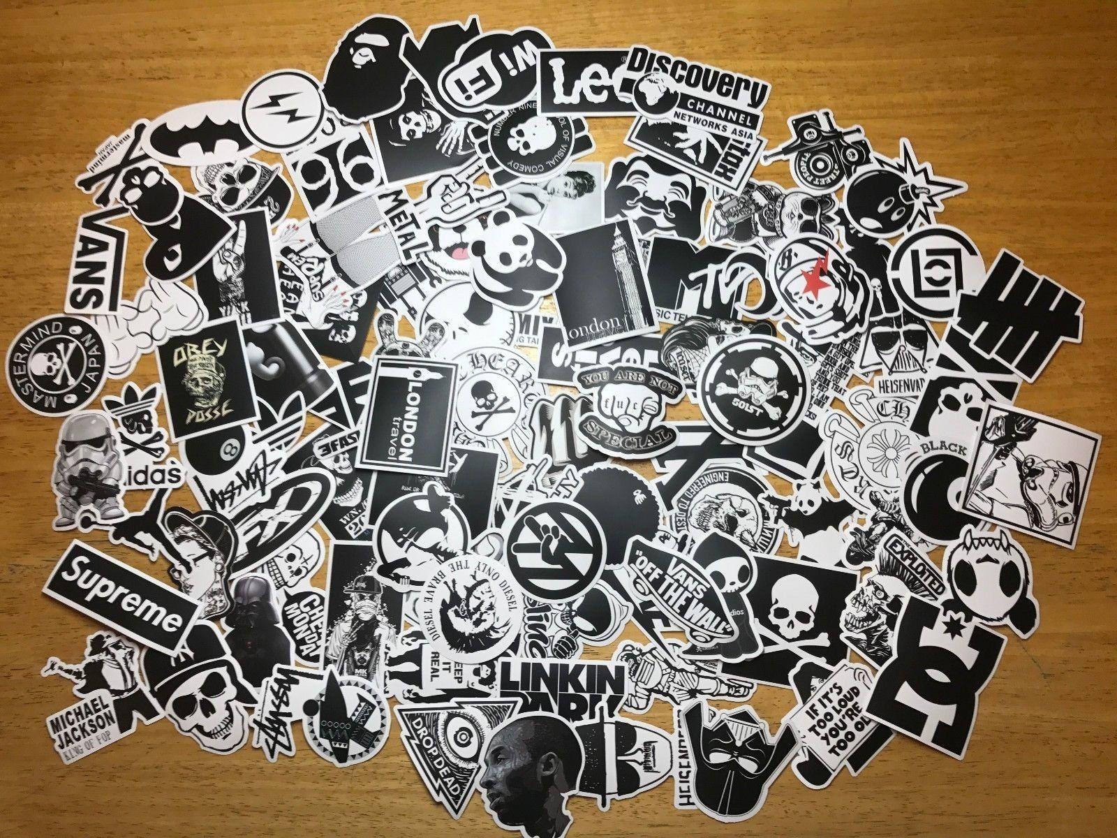 100 Pcs Sticker Pack Supreme Laptop Vinyl Stickers Car Cool Sticker Bomb Pack Sticker Bombing Kit Stickerbomb Wrap Cool Stickers Sticker Bomb Stickers Packs [ 1200 x 1600 Pixel ]