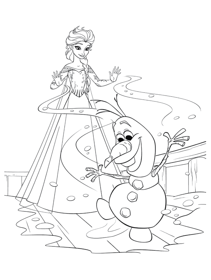 Try Our Free Disney Frozen Coloring Pages Your Child Can Color His Or Her Favorite Characters From Including Anna Elsa Kristoff And Olaf