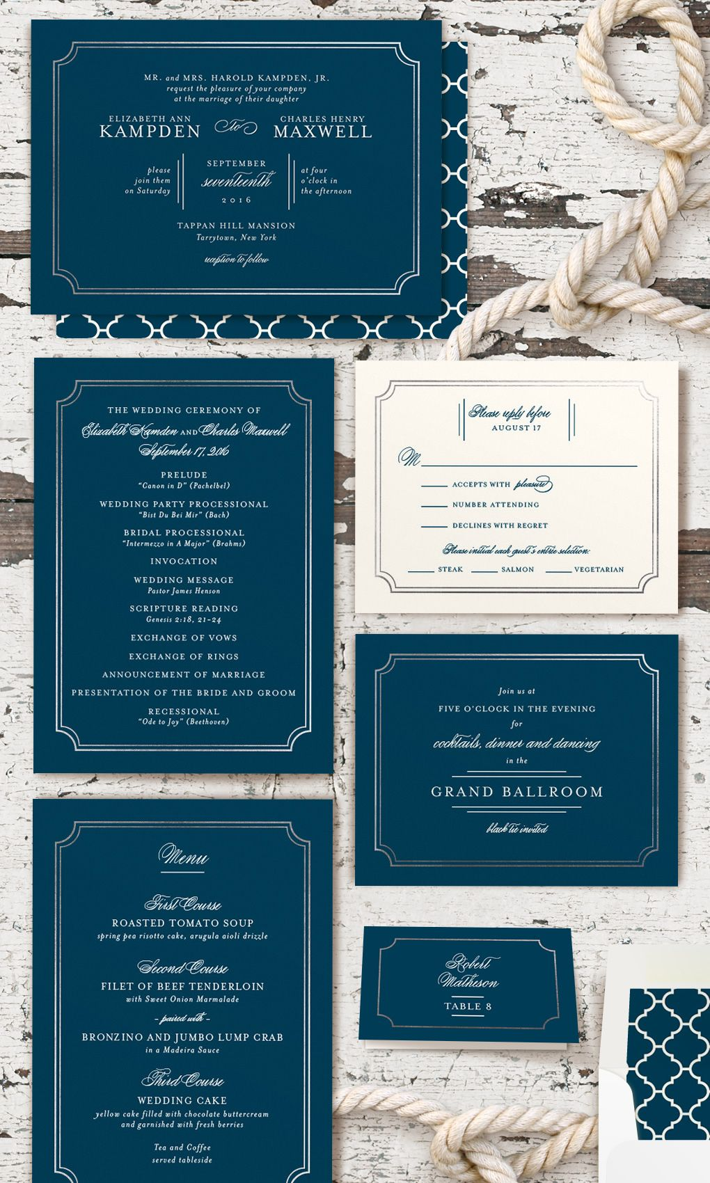 Nautical Save the Date - Wedding Stationery