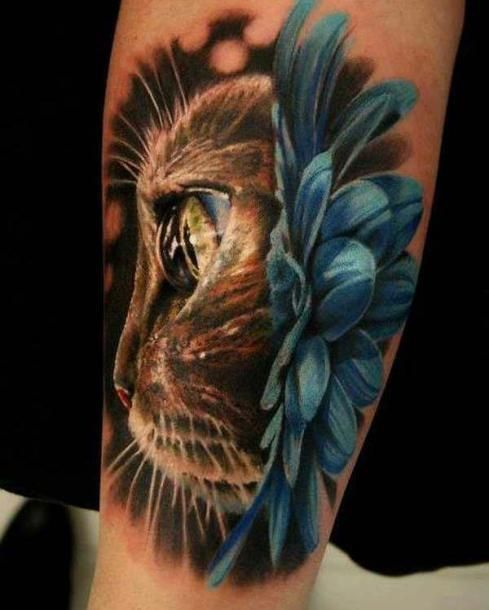 45 Cute And Lovely Cat Tattoos Ideas For Cat Lovers Cat Tattoo Designs Animal Tattoo Cute Cat Tattoo