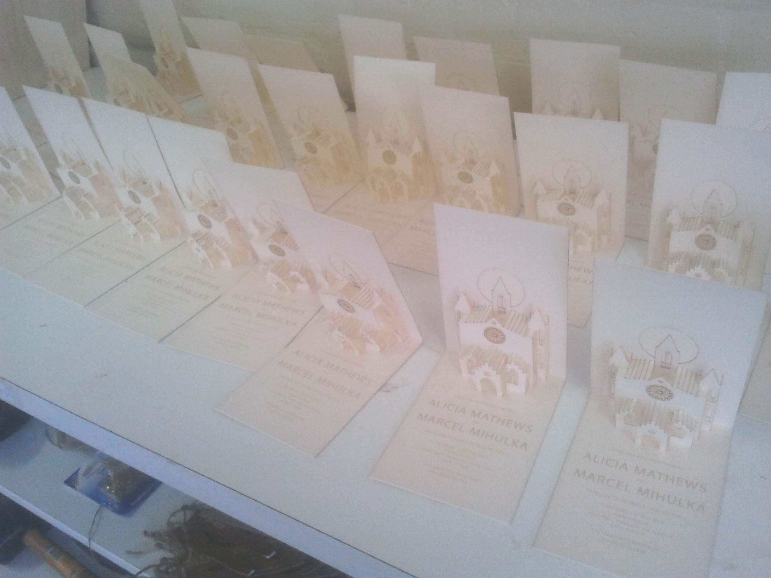 Pop out churches in the making- Wedding Invitations- http ...