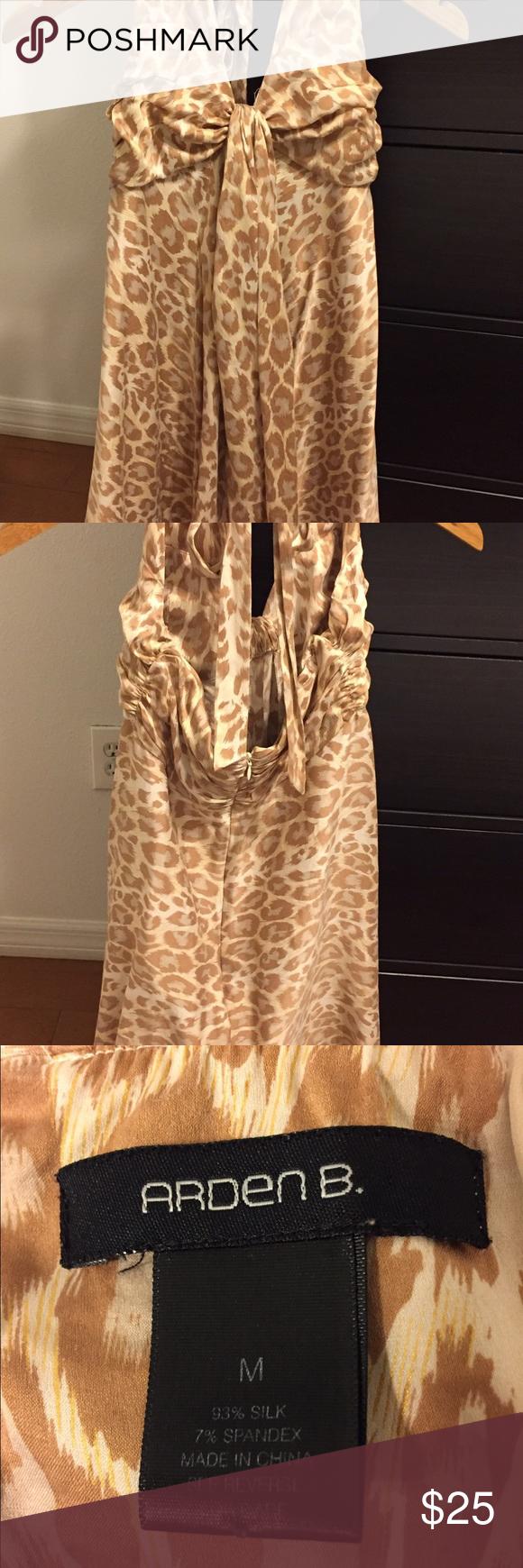 Beautiful Silk Halter Dress Beautiful silk halter dress - size medium in excellent condition. Dresses