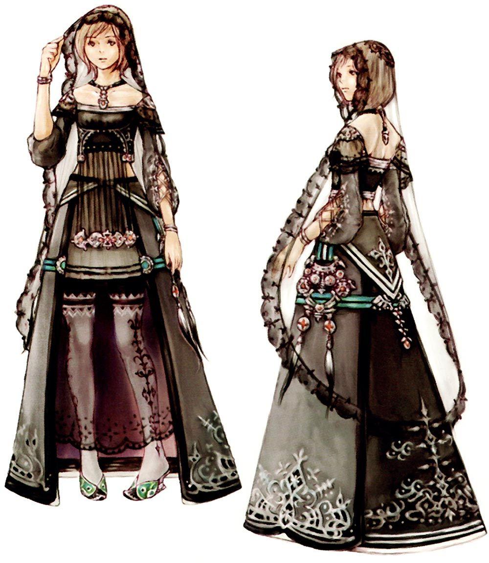 Final Fantasy XII - Concept Art Mon - Ashe Funeral Dress