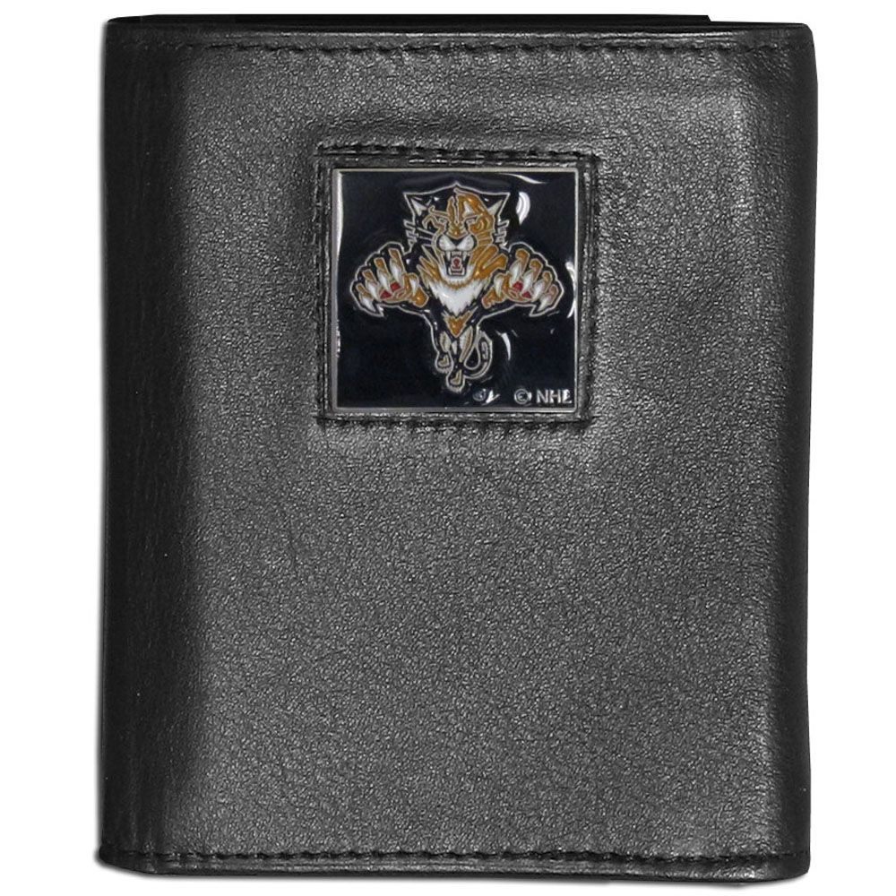Florida Panthers Leather Trifold Wallet Florida