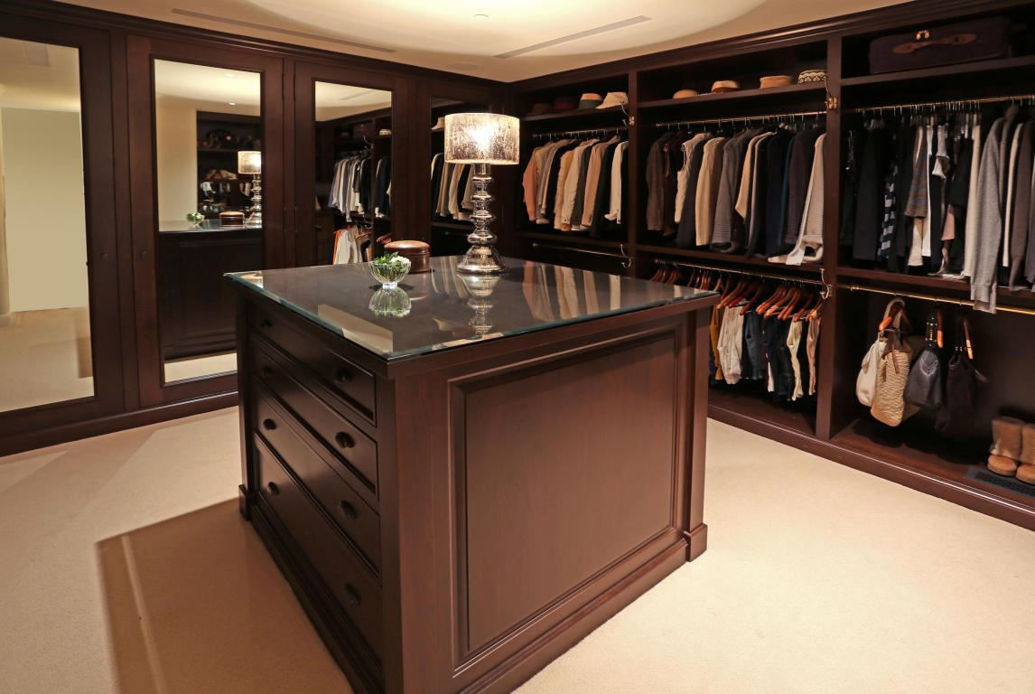 A simple and elegant closet. Montecito, CA Coldwell Banker