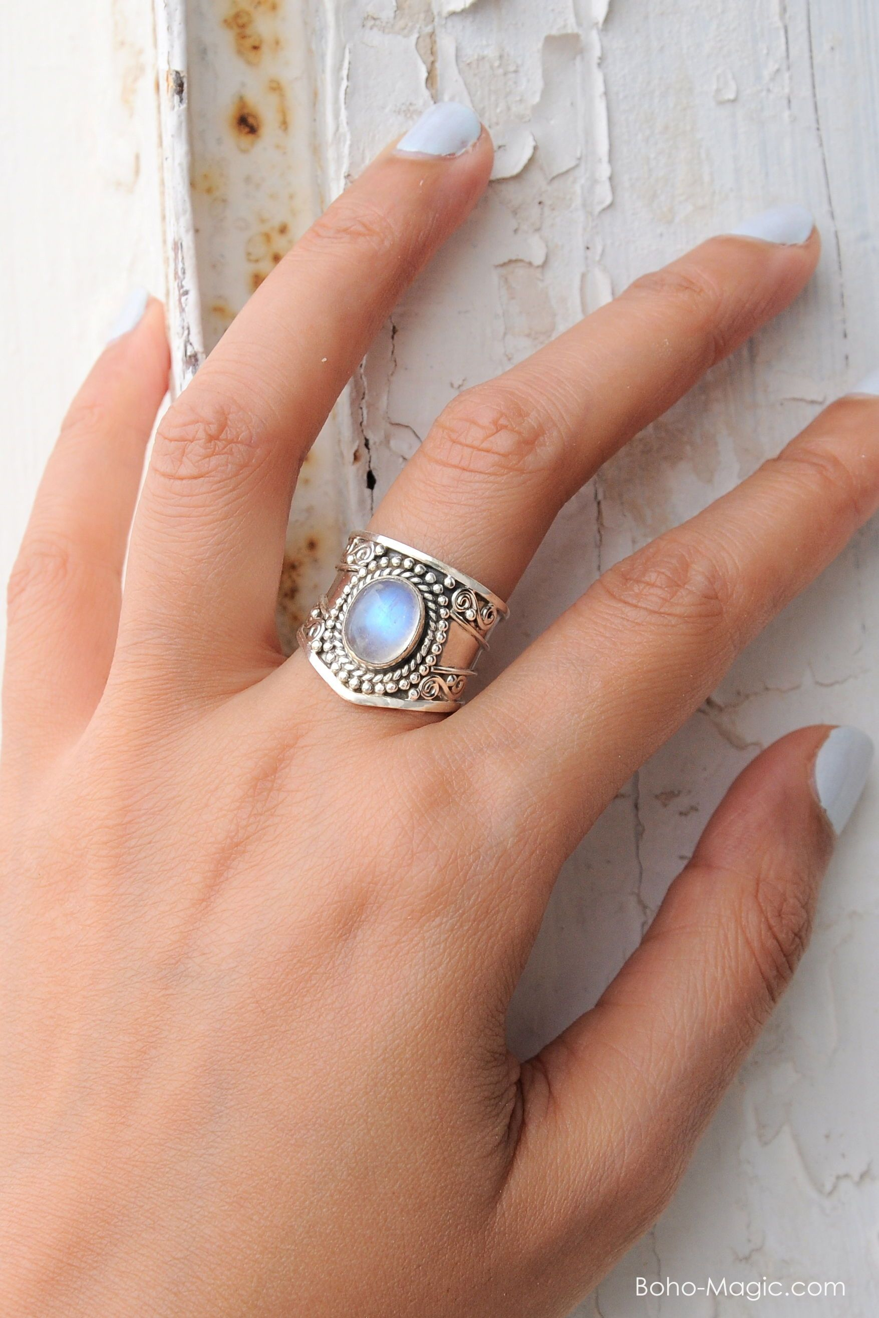Rings boho rare photo