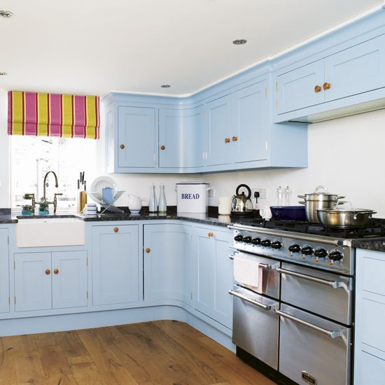 I M Liking The Cornflower Blue Kitchen Units