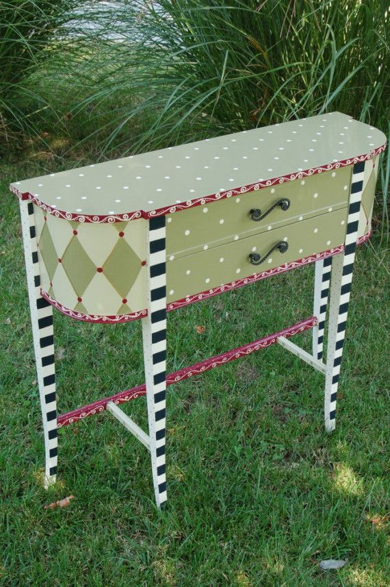 Funky Hall Tables rosemary and thyme hand painted hall table/buffet | mad tea