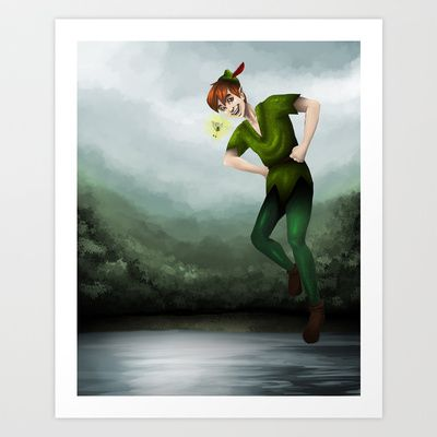 Peter+Pan+Art+Print+by+Destiny+Jade+-+$15.60
