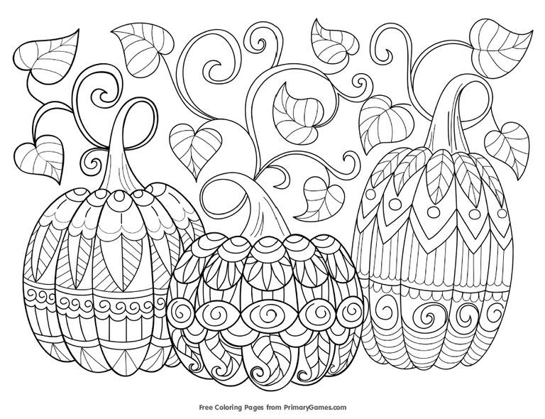 423 Free, Printable Autumn and Fall Coloring Pages Free